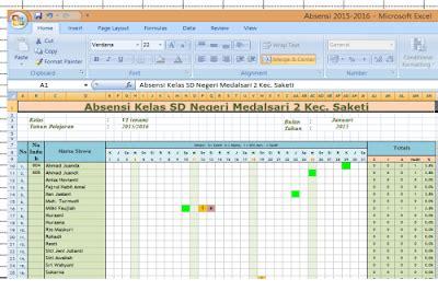 format absensi siswa sd download aplikasi absensi siswa sd ada grafiknya