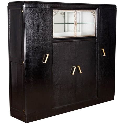 Black Cabinets For Sale Deco Cabinet Painted Black 1930s For Sale At