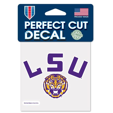 louisiana state colors louisiana state cut color decal 4 quot x 4 quot