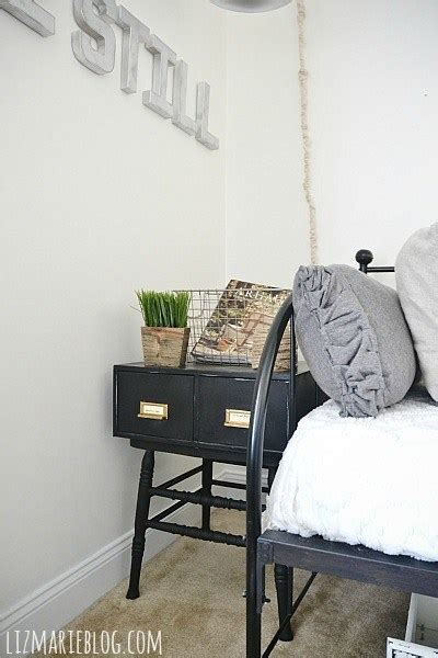 Front Guest Bedroom Makeover: Card Catalog Side Tables