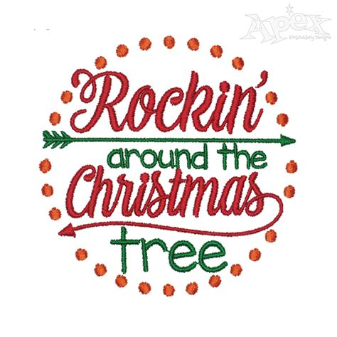 rocking around the christmas tree movies rockin around the tree embroidery design