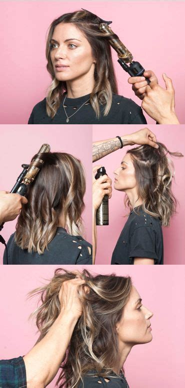 best curling wand for lob this is the secret to a perfectly messy long bob wavy