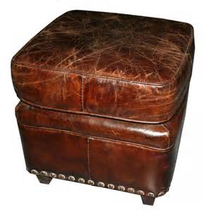 brodey vintage leather ottoman ottomans and footstools interiors online furniture online
