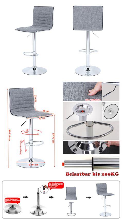 sgabelli ebay songmics sgabelli sgabello da bar girevole bar stool sedia