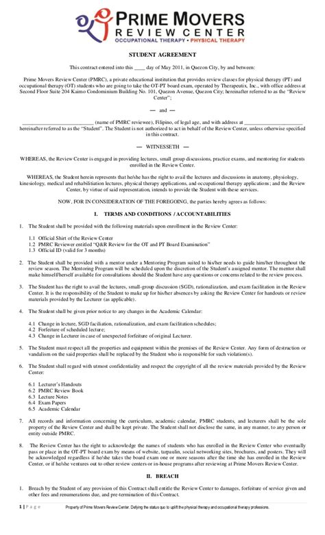 student agreement contract pmrc student agreement contract 1