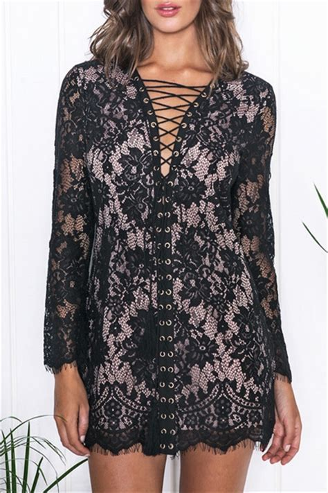 Rushed Sleeve V Neck Top v neck floral pattern lace sleeve dress