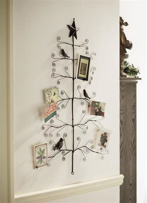 copper christmas card holder bird tree photo card holder 41 quot h wire wall mount large new ebay
