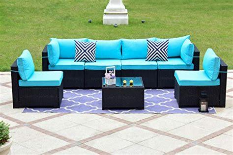 gotland  piece outdoor rattan sectional sofa wide armrest