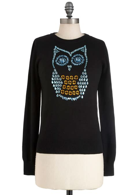 Owel Sweter hoot and owl sweater mod retro vintage sweaters