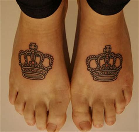 crown couple tattoo meaning couple of crown tattoos on feet tattooshunt com