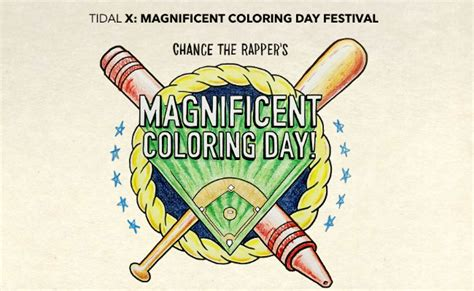 coloring book chance the rapper tidal chance the rapper s magnificent coloring day will