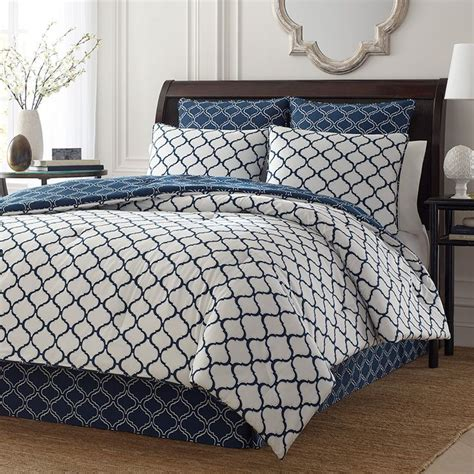 Trellis Comforter by Cottage Navy Comforter Duvet Set