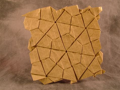 Origami Tesselations - thinking sketches 3 4 6 4 waterbomb flagstone