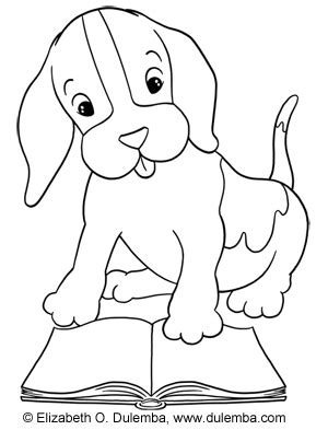 reading dog coloring page dulemba coloring page tuesday reading puppy