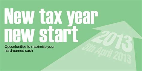 when does new tax year new tax year new financial start