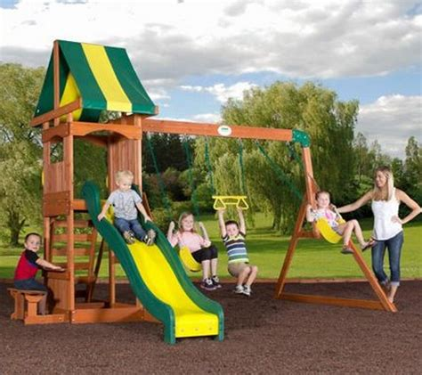 discount swing sets hot discovery cedar swing set only 349