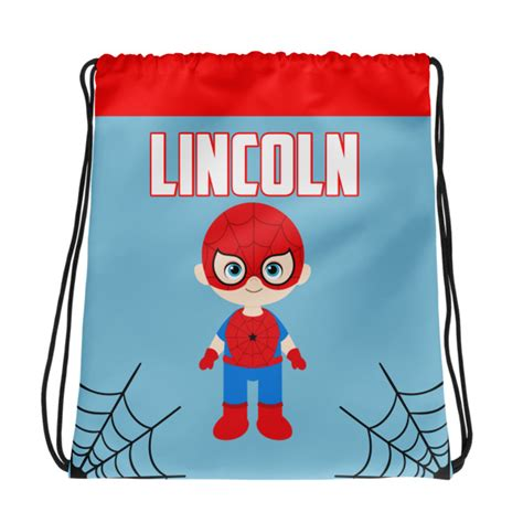 Raglan Ordinal Amazing Spider 11 personalized spider drawstring tote amazing imaginable creations
