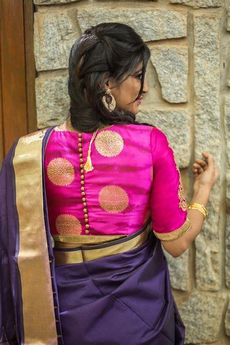 Blouse Shibori 8 pinkish purple gold shibori brocade blouse with rich