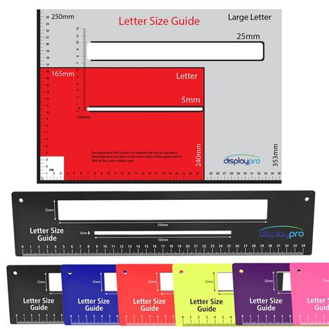 Royal Mail Letter Postal Template Size Guide Postage Package Ruler Post Ppi Ebay Template Size