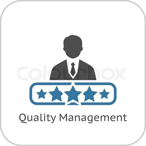 icon design management quality management icon flat design app symbol or ui