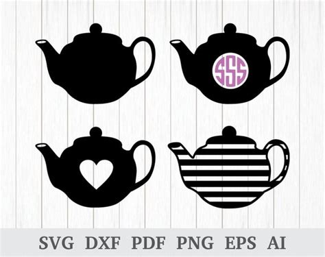 teapot svg tea kettle svg teapot clipart kitchen svg etsy