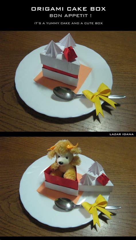 Origami Cake Box - origami cake box by darkumah on deviantart