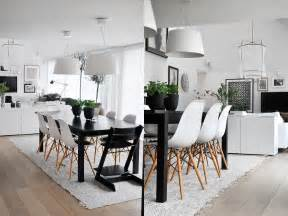 eames chair dining table room