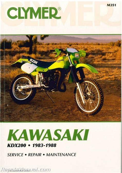 Kawasaki Kdx200 1983 1988 Clymer Motorcycle Repair Manual