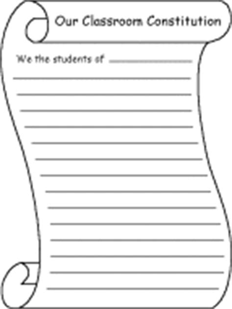 write a classroom constitution or bill of rights