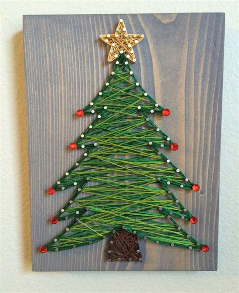 christmas tree string art order from kiwistrings on etsy