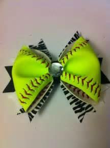 softball hair bow real softball all yellow by 3craftinsisters