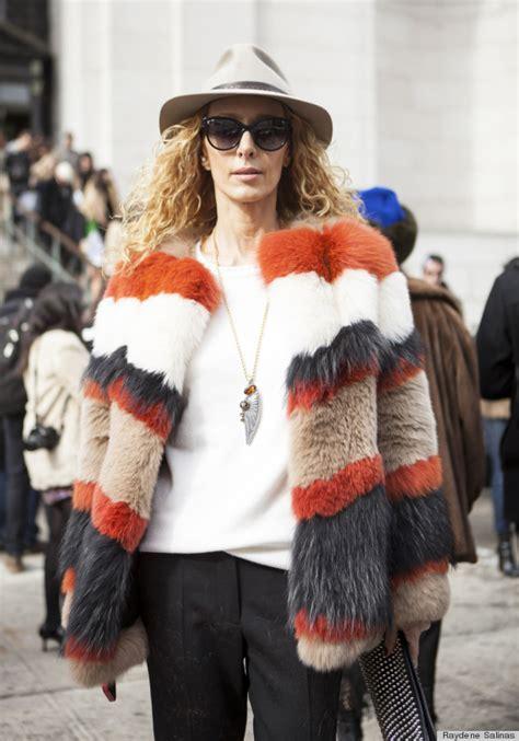 street style fashion week  colorful parade  furs