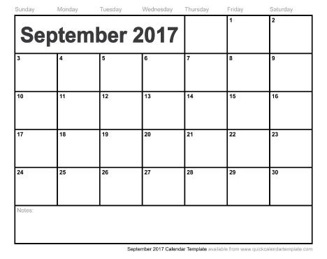printable calendar sept 2017 september 2017 calendar pdf weekly calendar template