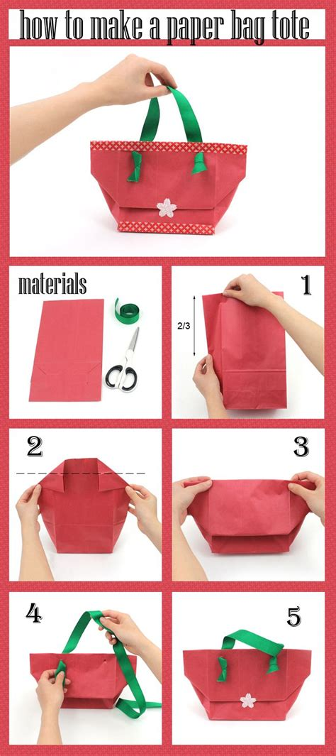 Easy Steps To Make Paper Bags - make a tote bag from a paper bag cards sting