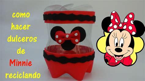 decorar botellas minnie recicla botellas y haz dulceros de minnie o mickey mouse