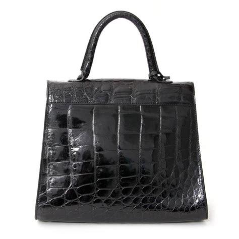 Fashion Bag Batam Import Lv Bb 812 3 delvaux black croco brillant at 1stdibs