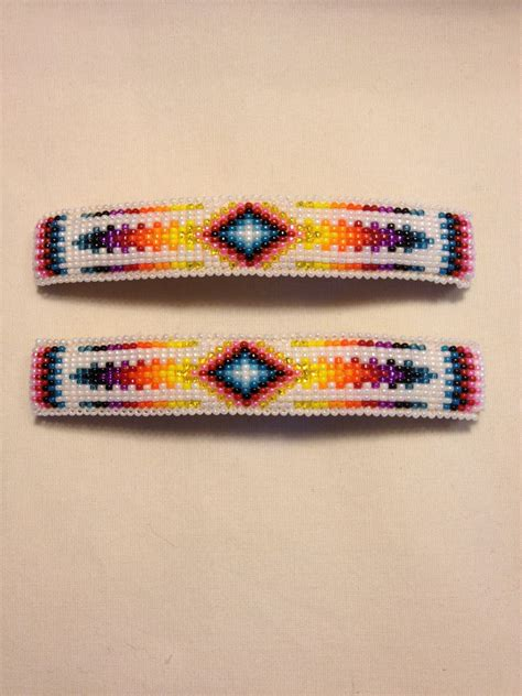 indian bead american beaded barrettes