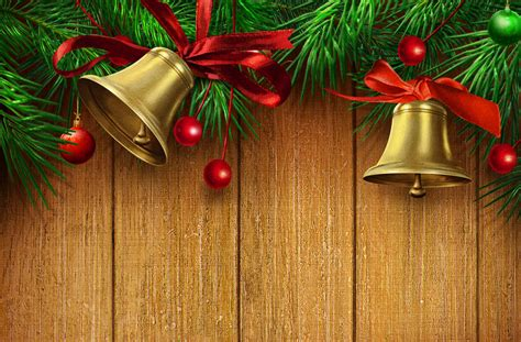 christmas wooden background  gold bells  red ribbon gallery yopriceville high quality