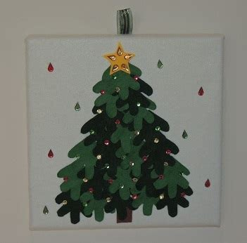 white felt christmas tree canvas lene madeit com au