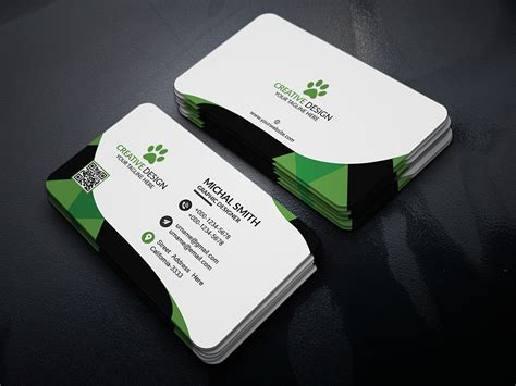 business card psd template free corporate business card psd psd