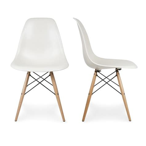 new dining chair designs including eames style dsw wood base mid century modern shell dining side chair set of 2 ebay
