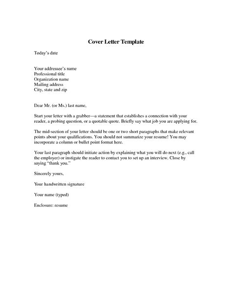 template for cover letter for resume free cover letter template resume badak