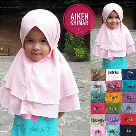 Kerudung Anak Khimar Anak Jilbab Anak Bergo Anak 4 kerudung anak aiken khimar sentral grosir jilbab kerudung i supplier jilbab i retail