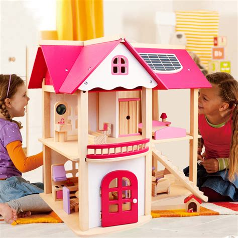dolls house for children cutebee pretend play furniture toys wooden dollhouse furniture miniature toy set doll
