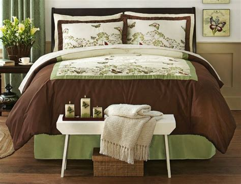 brown and green bedding brown and green butterfly bedding comforter set by