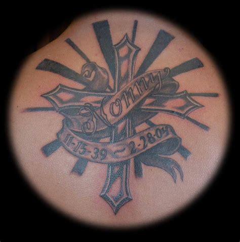 cross remembrance tattoos memorial cross by jim talmadge tattoonow