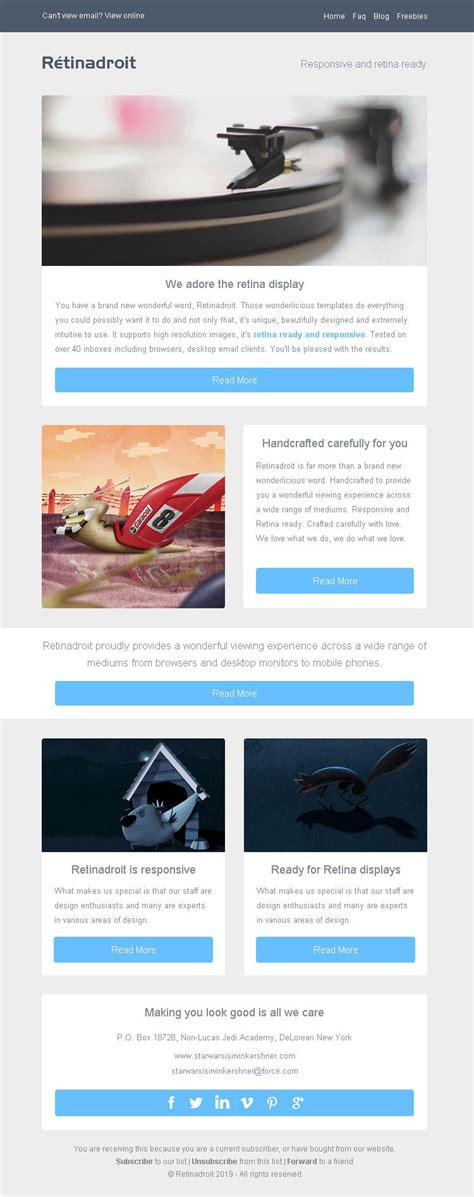 Responsive Email Template Invoice Template Mailchimp Email Editor Ready Html Email Templates Responsive Html Newsletter Template