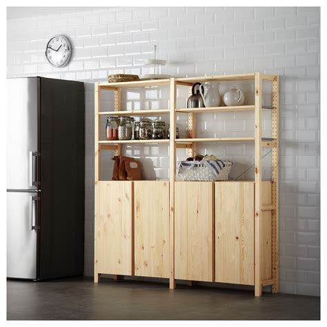ivar cabinets ivar 2 sections shelves cabinet pine 174x30x179 cm ikea