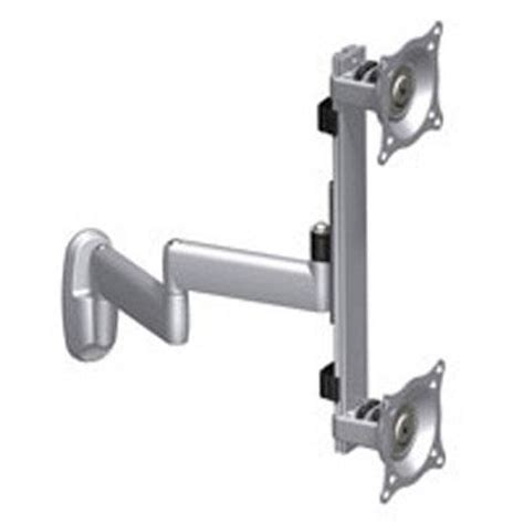 monitor swing arm wall mount chief kwd230 dual vertical monitor swing arm wall mount