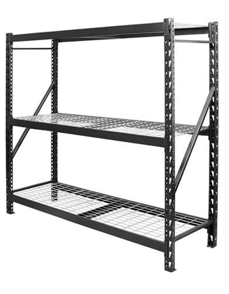 edsal 3 shelf steel storage rack 72 quot h x 77 quot w x 24 quot d at